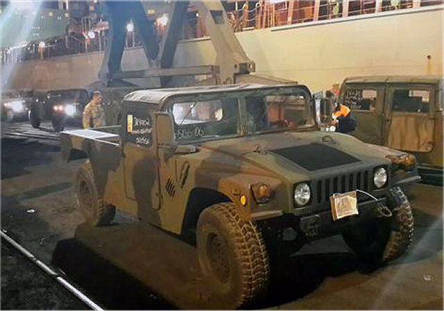 According a tweet from Geoffrey Pyatt official account, the United States Ambassador to Ukraine, of Saturday, July 18, 2015, 100 more US military Humvees 4x4 llight tactical vehicles have been delivered to Ukraine's port city Odesa.