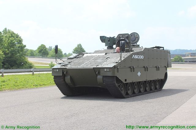 ASCOD APC light tracked armoured personnel carrier live demonstration and test drive 640 001