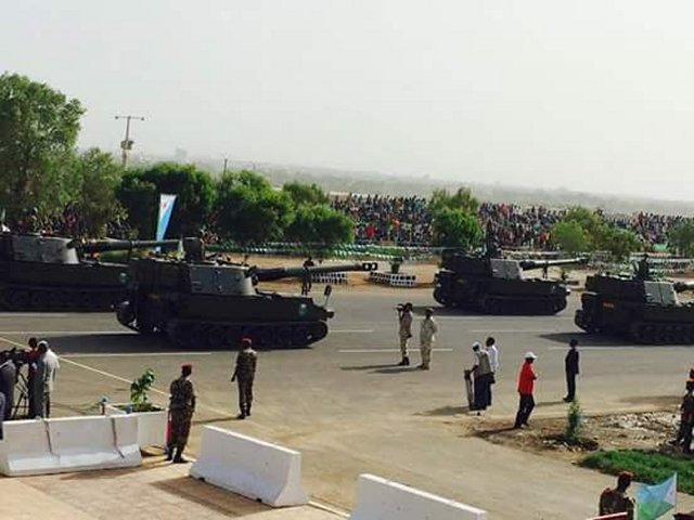 Djiboutian Army Unveiled for the First Time WMA301 105mm Wheeled Tank Destroyer During Parade