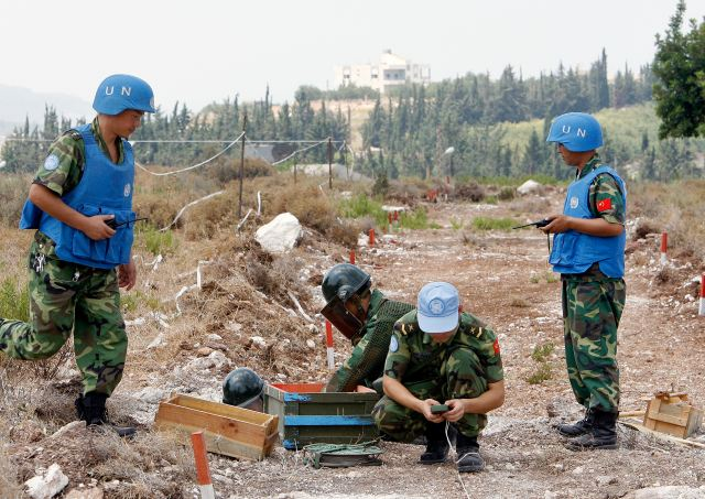 Headquarters of United Forces in Lebanon conducted a security evaluation of Chinese contingent 640 001