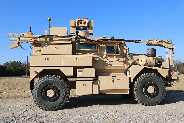 US Army and Air Force to develop RADBO laser mounted on MRAP vehicle for mine clearance 640 001