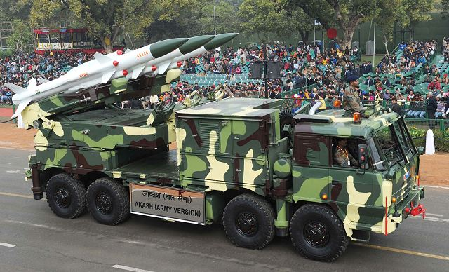 Akash air defense missile system will replace obsolete air defense weapons in Indian Army 640 001