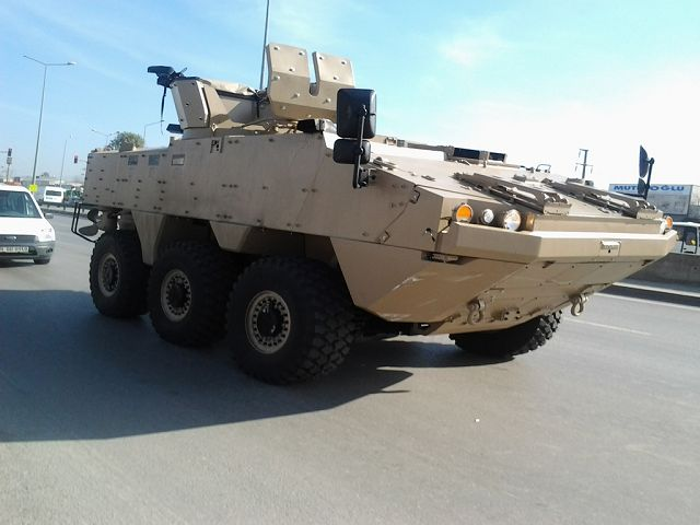 Bahrain armed forces equipped with Turkish-made Otokar Arma 6x6 armored personnel carrier 640 001
