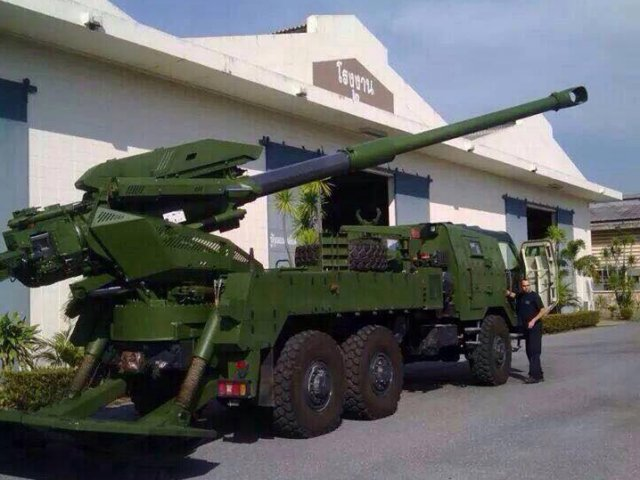 First Elbit Systems ATMOS 155mm Self-Propelled Gun Arrived to Thailand 640 001