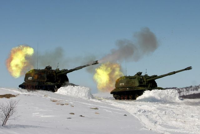 Live firing with 2S19 MSTA-S 2S34 Chosta and Tornado-G MLRS for Russian army artillery units 640 001