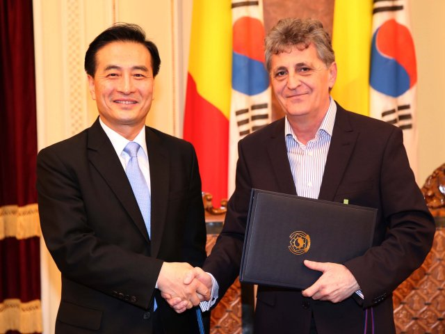 Romanian-South Korean Agreement Signed at the Romanian Ministry of National Defence 640 001