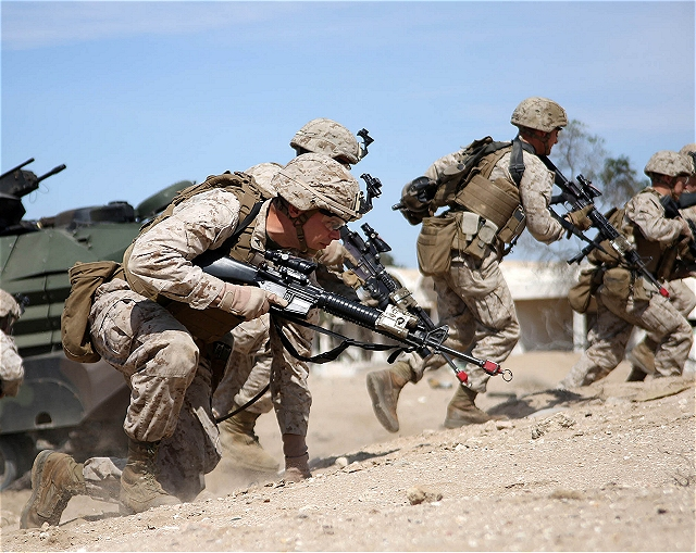 US Marines international amphibious landing scenarios during Exercise Eagle Resolve in Kuwait 640 001