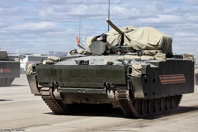 New techologies of communication and navigation fitted on new Russian combat vehicles Kurganets-25 640 001