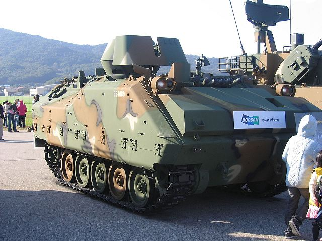 CMI Defence and Doosan to develop new KIFV tracked armoured with CPWS weapon station 640 001