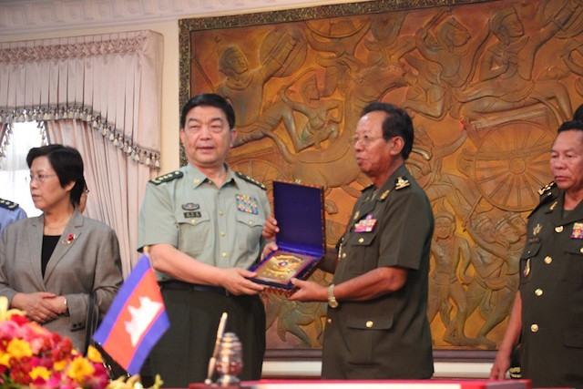 China and Cambodia agreed on a new military multi-contract