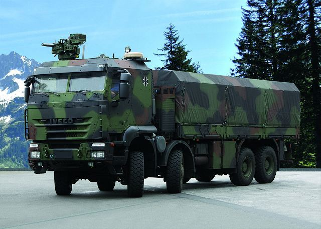 IVECO Defence Vehicles of Italy to supply 133 Trakker protected trucks to the German Army 640 001