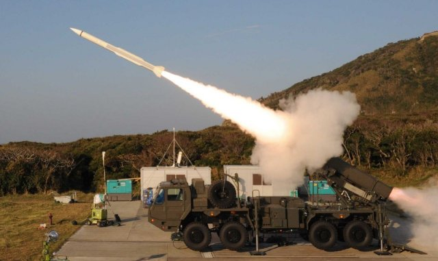 Successfull test fired for the Japan Ground Self Defense Force Chu SAM Kai surface to air missile 640 001