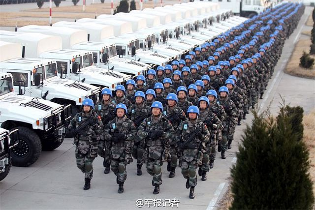 Chinese army becomes a major contributor of troops for UN peacekeeping operations 640 001