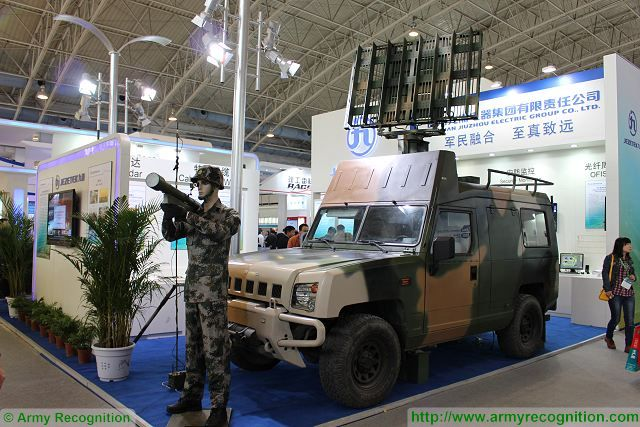 Jezetec JZ QF-612 Command and Control radar on 4x4 light tactical vehicle CIDEX China 640 001
