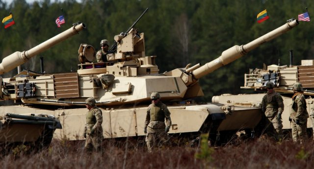 US Army brings heavy military equipment and troops in Lithuania for training tasks 640 001