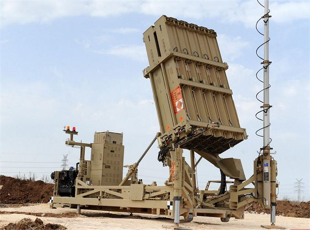 Army of Israel has deployed two anti-missile batteries Iron Dome after rocket fire from Gaza Strip 640 001