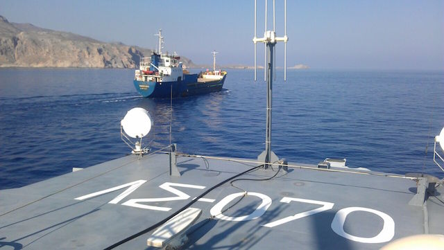 Hellenic Coast Guard seizes ship with illegal weapons