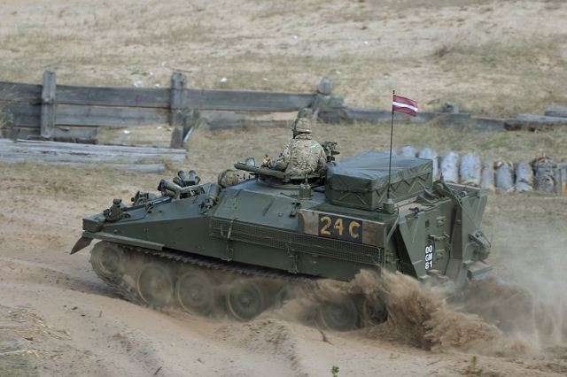 Latvia MOD has concluded a contract with United Kingdom for delivery of 123 CVRT light armoured 640 001
