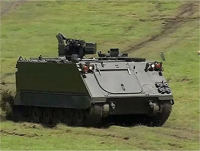 Philippine Army tests new M113A2 tracked armored personnel carrier with remote weapon station 640 001