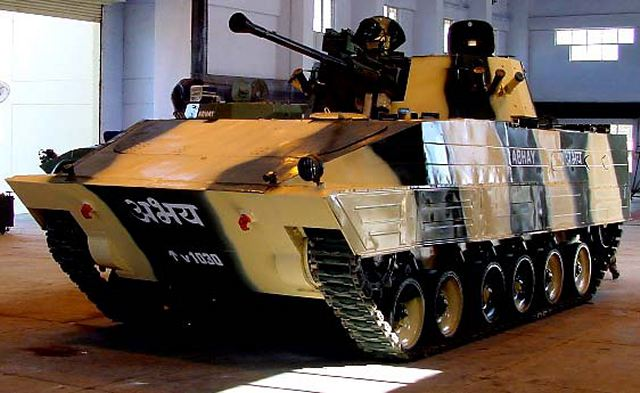 Russia and India are considering co-development of a new generation infantry fighting vehicle at an Indian enterprise, Albert Bakov, first vice president and co-owner of the Tractor Plants Concern, told TASS on Wednesday, September 30, 2015.