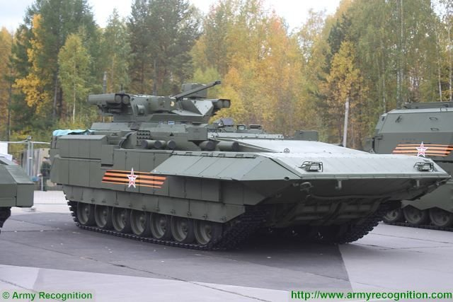 Russian vehicles based on the Armata Combat Platform-to get new armor for urban warfare 640 002