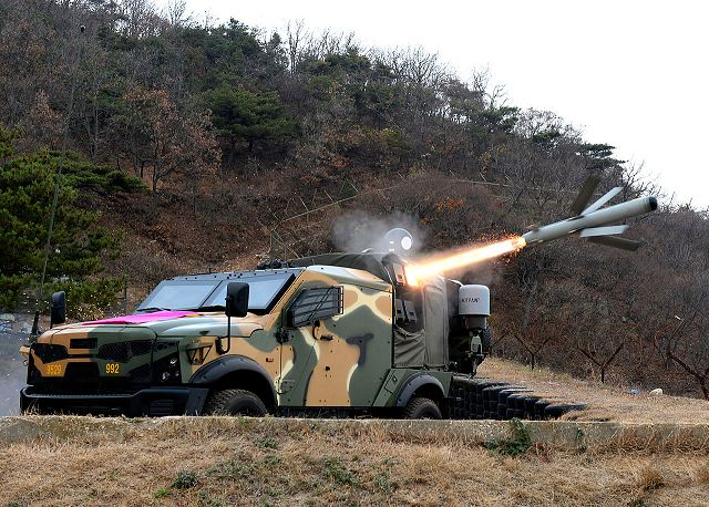 In July 2016, The South Korean army has test fire the Israeli Spike anti-tank guided missile from the SandCat vehicle. According the SIPRI Arms Transfers, South Korea has purchased 4 SandCat vehicles and 67 Spike-NLOS in 2011 with the delivery in 2013.