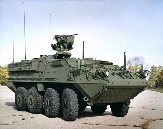 US Army Stryker vehicle undergoes tests in extreme cold conditions in Alaska 640 002
