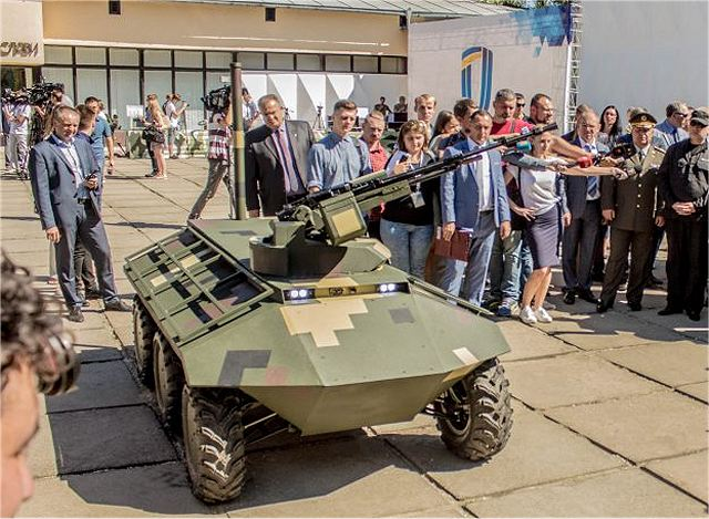 "Ukraine defense industry presents latest development of unmmaned aircraft ""Gorlytsa"" and unmanned ground vehicle ""Phantom""to the Secretary of the National Security and Defense Council of Ukraine Alexander Turchinov."