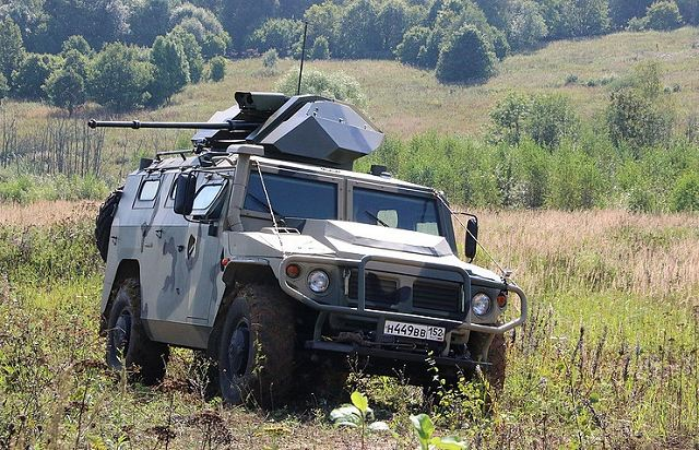 Russia's military-industrial company VPK LLC has designed a remote controlled version of the wheeled armored vehicle Tigr, armed with a 30-mm gun, CEO Aleksandr Krasovitsky told TASS. The remote-controlled Tigr is currently undergoing test runs and firing tests, and has performed impressively so far.