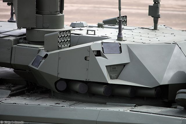 Analysis Russian Afganit active protection system is able to intercept uranium tank ammunition T 14 armata 640 001