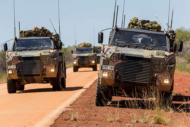 Bushmaster 4x4 protected vehicles from Australian army will be fitted with new weapon systems 640 001
