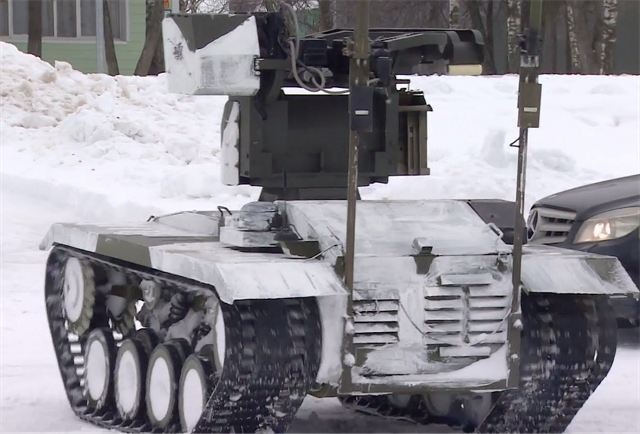 Russian UGVs (Unmanned Ground Vehicles) Soratnik and Nerehta took part in military exercises outside of Moscow, practicing reconnaissance and fire support for Russian army mechanized infantry unit. The drones took part for the first time in operational drills with the Central Command of the Russian Ground Forces.