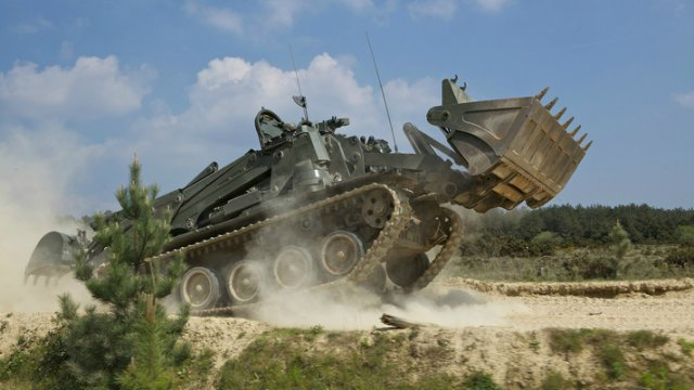 BAE Systems unveils its reworked Terrier Armoured Combat Engineer Vehicle 640 002