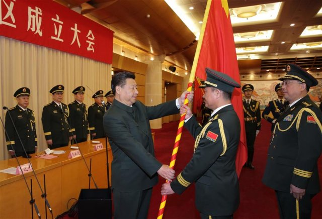 Chinese People s Liberation Army PLA regrouped into five theater commands 640 001