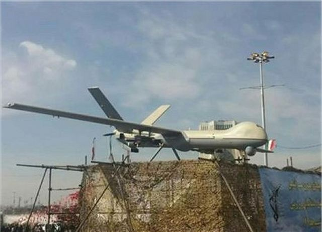 Iran unveils newly-designed model of Shahed 129 long-range drone UAV Unmanned Aerial Vehicle 640 001
