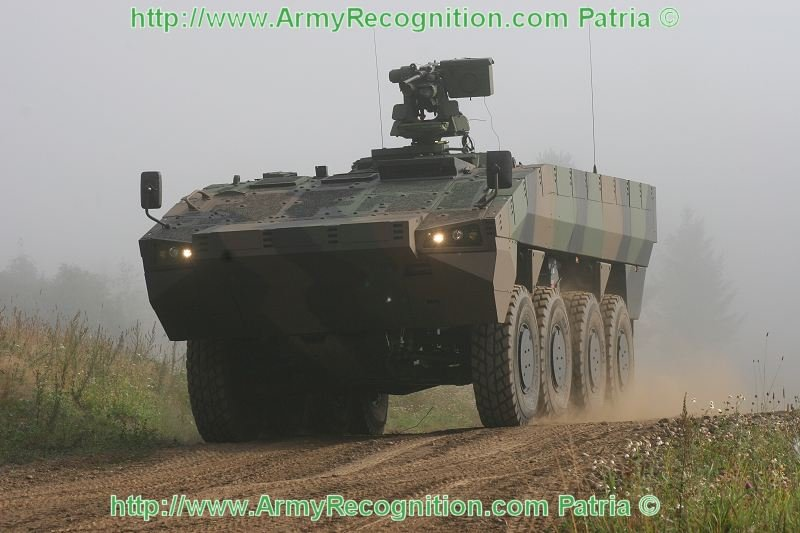 Patria AMV ordered by UAE may be fittet with Russian BPM 3 combat modules 640 001