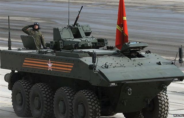 Russian Military-Industrial Company (a subsidiary of the Basic Element Group) has started the preliminary trials of new Bumerang (Boomerang) wheeled armoured fighting vehicle (AFV), according to the company`s director general Alexander Krasovitsky.