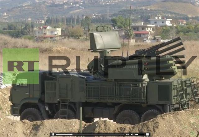 Russian Pantsir-S1 (SS-22 Greyhound) at Khmeimim air base in Syria