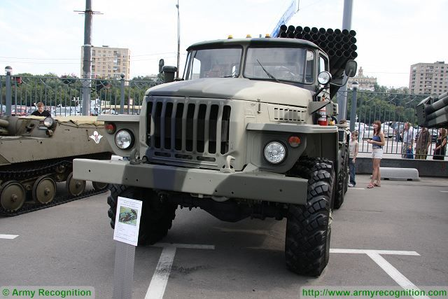 The Russian Western Military District's artillery units have received 12 new BM-21 Grad multiple 122mm rocket launch systems mounted on Ural-4320 truck, district spokesman Igor Muginov said on Wednesday, February 17, 2016. The first version version of BM-21 rocket launcher system was mounted on Ural-375D six-by-six truck chassis.