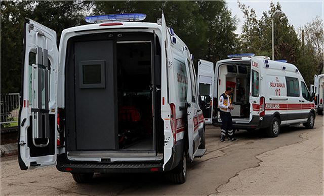Turkish health ministry uses armoured ambulances wich can be used under firing of small arms 640 001