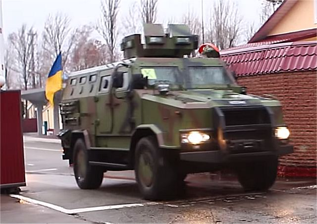Ukrainian-made Kozak-2 4x4 armoured personnel carrier in service with Border Guards of Ukraine 640 001