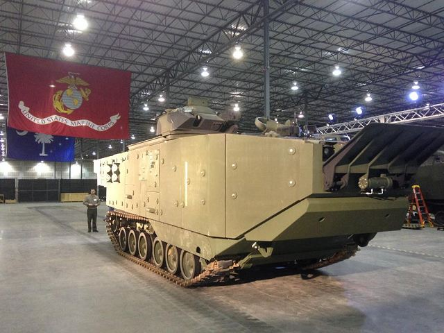 The American Company SAIC releases a picture on his Twitter account showing the first Amphibious Assault Vehicle Survivability Upgrade for the US marine Corps AAV (Assault Amphibious Vehicle). The AAV (also called LVTP-7) is a fully tracked amphibious landing vehicle manufactured by U.S. Combat Systems.