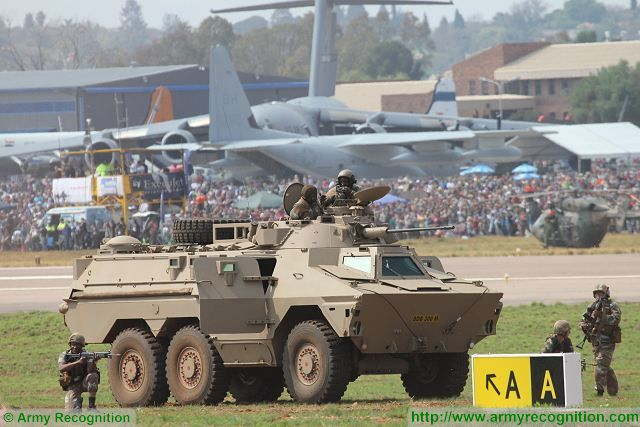 Cameroon army has take delivery of South African-made Ratel 20 20mm cannon 6x6 armoured 640 001