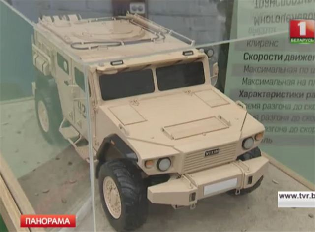 During the visit by the President of the Republic of Belarus Alexander Lukashenko, at the facility of the Belarusian Company Minotor-Service, engineers of the Company have presented a new project of 4x4 armoured vehicle which seems similar to the US Oshkosk M-ATV MRAP.