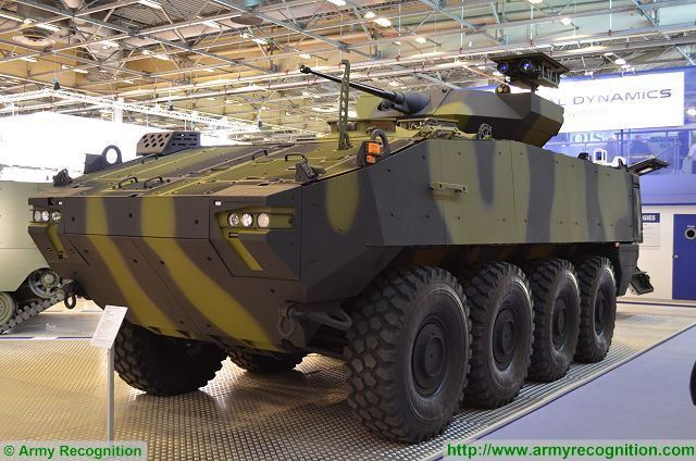 General Dynamics has signed contract with Denmark for the delivery of 309 Piranha 5 8x8 armored 640 001