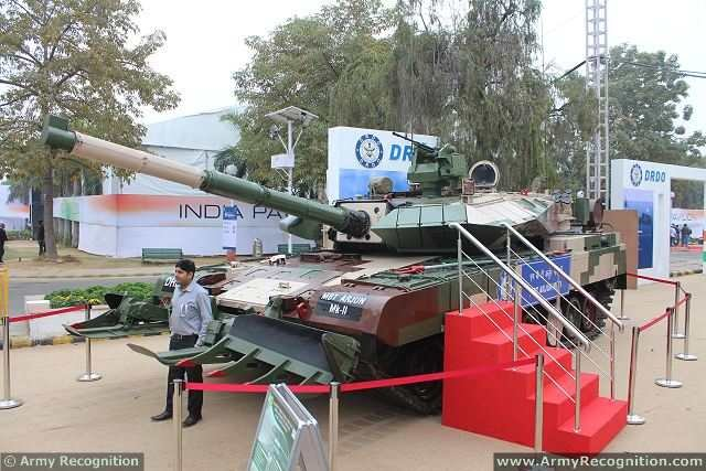 India conducted firing tests of its newly developed ammunition from its Arjun main battle tank 640 002