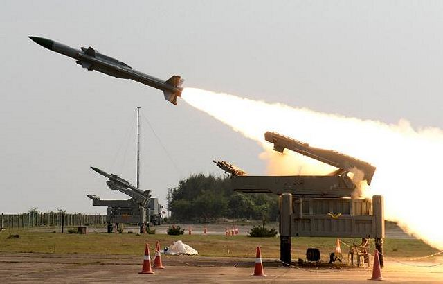 India test fired its local-made Akash mediuim-range surface-to-air defense missile system 640 001