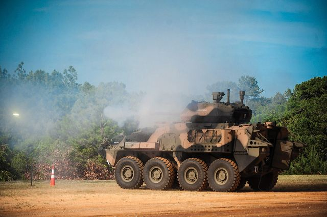US Army performs live firing demonstration of LAV and Flyer combat vehicles with 30mm cannon 640 002