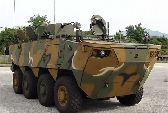 South Korea Defense Industry has developed new wheeled armored combat vehicles under the name of K808 and K806, that can greatly enhance the mobility and striking power of its infantry troops. The Defense Acquisition Program Administration's (DAPA) wheeled armored vehicle project, undertaken by Hyundai Rotem since 2012, has been successfully completed, according a DAPA statement.