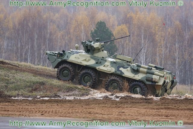 Russia to upgrade its BTR 82A armoured personnel carriers to BTR 87 640 001